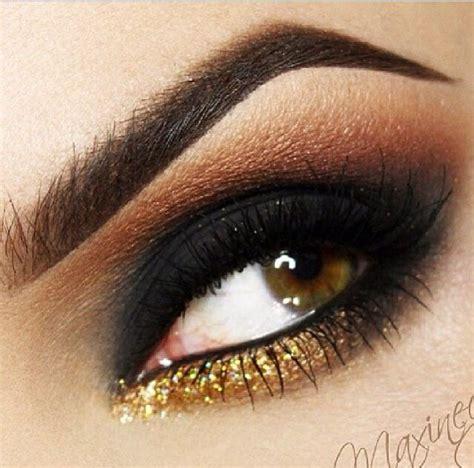 make up gold bronze gold smokey make up smokey