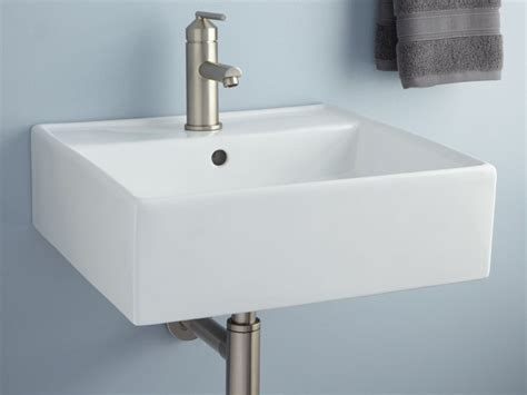 Bathroom Sinks : Wall Mounted Bathroom Sink