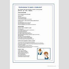 Telephone Complaint Worksheet  Free Esl Printable Worksheets Made By Teachers
