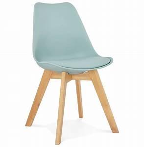 Chaise Moderne Design : chaise moderne teki bleue chaise scandinave ~ Teatrodelosmanantiales.com Idées de Décoration