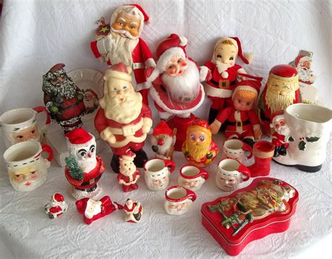 vintage christmas decorations vintage christmas santa claus decorations 1940s 1980s 28