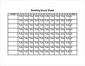 Bowling Sheet Template Sle Bowling Sheet 8 Documents In Pdf Psd Word Excel