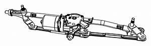 Dodge Grand Caravan Motor And Linkage  Windshield Wiper