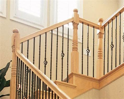 Wood And Metal Stair Railing Spindles Deck Railing At Http