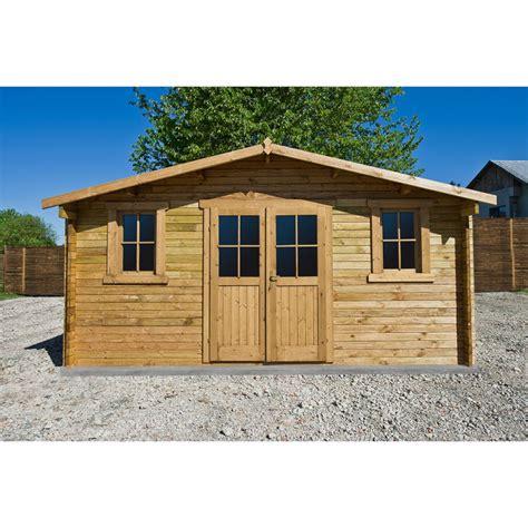 abri de jardin 16m 178 plus en bois 40mm trait 233 teint 233 marron gardy shelter