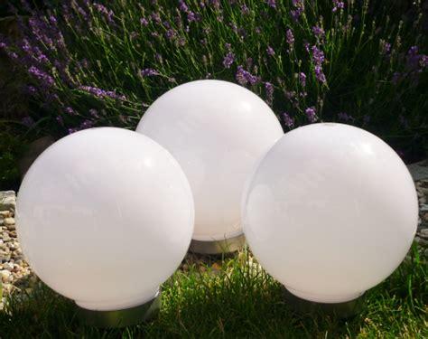 Solar Led Kugelleuchte 3erset 30,30,30cm Gartenkugel
