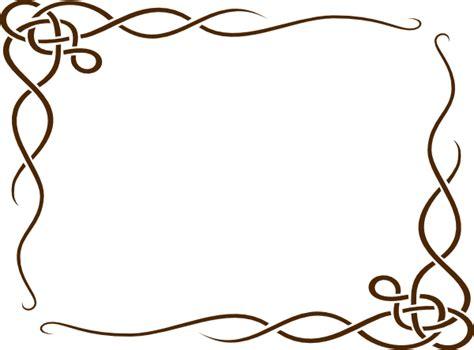 leafy frame brown clip art  clkercom vector clip art