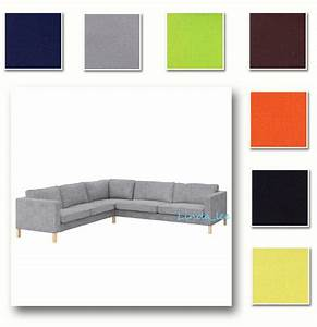 Custom made cover fits ikea karlstad corner sofa 23 32 for Karlstad sectional sofa covers