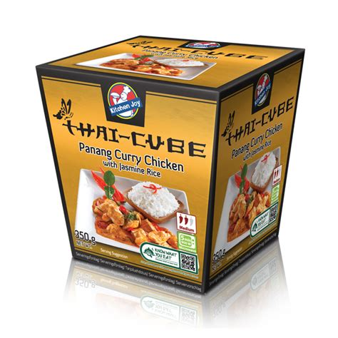 kitchen joy panang curry chicken  jasmine rice lejos