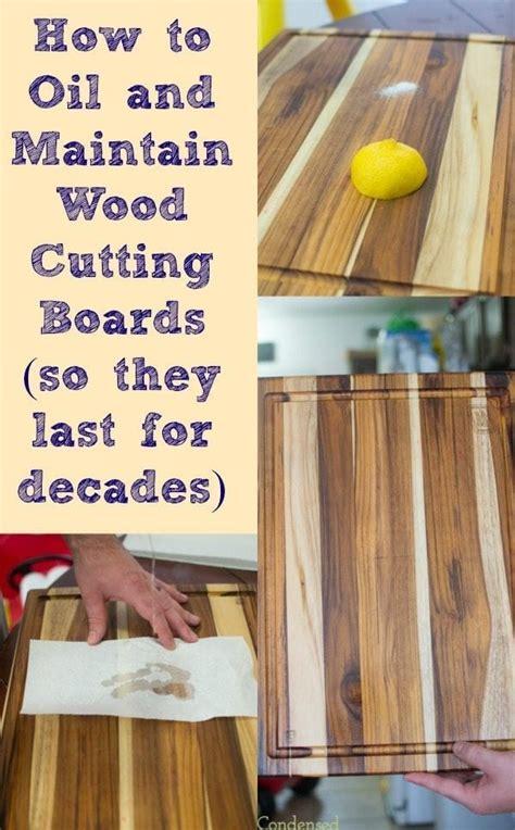 oil  treat wood cutting boards