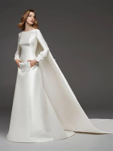 wedding dress  mikado pronovias