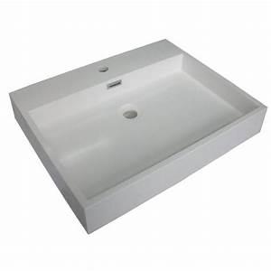 Waschbecken Mit Ablaufschlitz : mineralguss aufsatz waschbecken eckig 750x480x110 mm 129 00 ~ Sanjose-hotels-ca.com Haus und Dekorationen