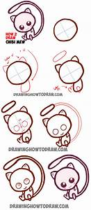 How to Draw Cute Baby Chibi Mew from Pokemon Easy Step by ...