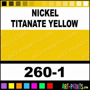 Nickel Titanate Yellow Artists Watercolor Paints 260 1