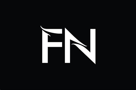 fn monogram logo design  vectorseller thehungryjpegcom