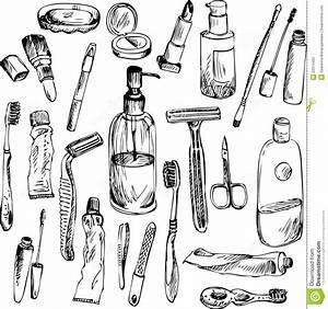 Objet Salle De Bain : croquis des objets de salle de bains illustration de vecteur image 50315493 ~ Melissatoandfro.com Idées de Décoration