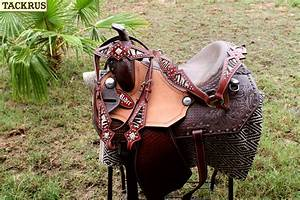 Horse Western Barrel Show Pleasure LEATHER SADDLE Bridle ...