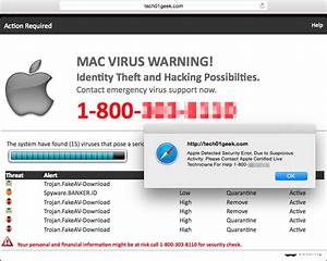 Mac users: Beware of increased tech support scam pop-ups ...
