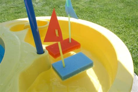 floating sponge boats make and takes 100 | Sponge Boats for Kids