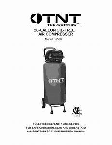 Tnt 15560 User Manual Air Compressor Manuals And Guides