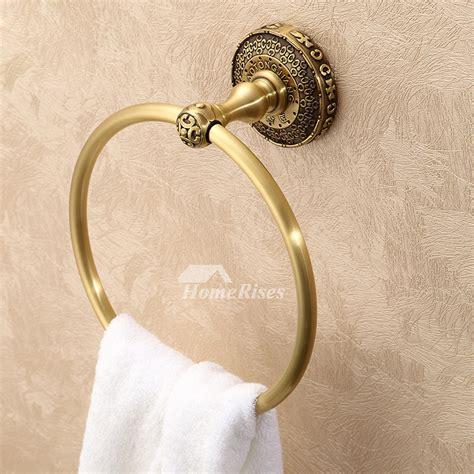antique bronze golden vintage towel ring bathroom