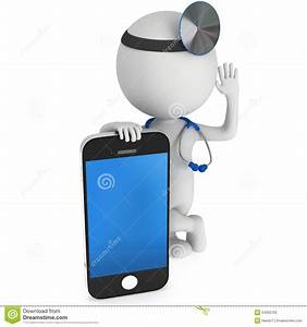Doctor With Smartphone Stock Illustration - Image: 54200762