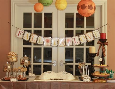 fall bridal shower ideas fall in love bridal wedding shower party ideas bridal showers fall harvest and in love