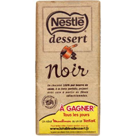 nestle dessert chocolat noir p 226 tissier 205 g auchan direct