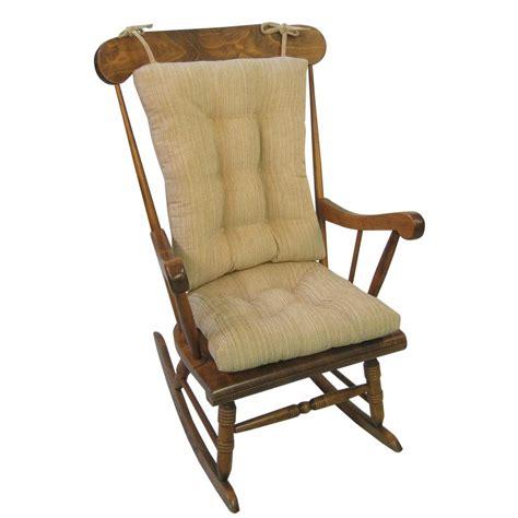 rocking chair cushion sets jumbo klear vu gripper polar chenille sand jumbo rocking chair