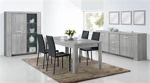salle a manger moderne avec table ronde With salle À manger contemporaine avec salle À manger chàªne massif