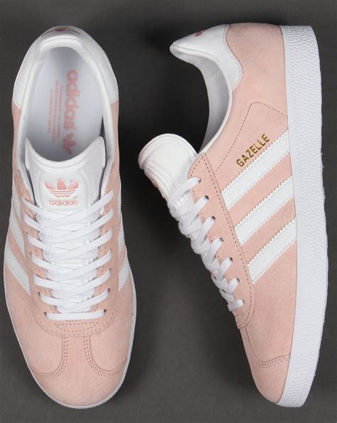 light pink adidas sneakers adidas gazelle trainers vapour pink white originals shoes