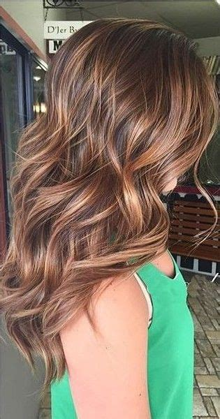 coppery brunette highlights  maintenance hair
