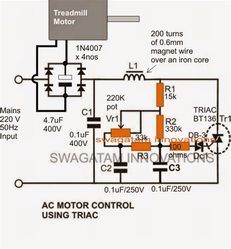 treadmill motor speed controller circuit homemade circuit projects