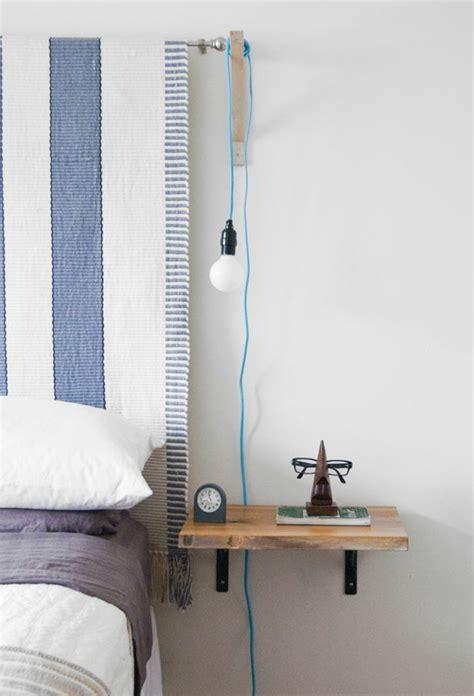 tendance peinture chambre adulte installer une table de nuit suspendue près de lit