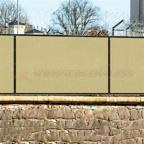 privacy cover for fence 6 x12 beige tan fence windscreen privacy screen mesh fabric cover shade cloth ebay