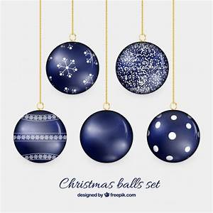 Boule De Noel Bleu : boules de no l en couleur bleu marine t l charger des vecteurs gratuitement ~ Teatrodelosmanantiales.com Idées de Décoration