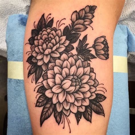 ideas  dahlia tattoo  pinterest dahlia