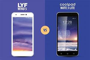 Coolpad Note 3 Lite Vs Reliance Lyf Wind 5