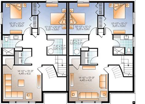 family floor plans sleek modern multi family house plan 22330dr cad