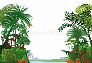 Tropical Rainforest Stock Vector  Illustration Of Tropics