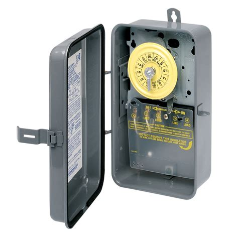 lowes outdoor light timer shop intermatic 40 amp 1 outlet mechanical residential