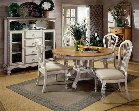 Comfortable Classy French Country Dining Table Round