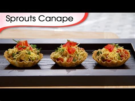 vegetarian canapes easy sprout canapes indian vegetarian tangy