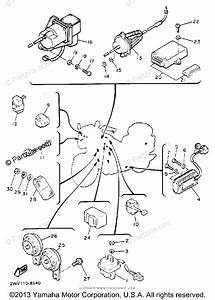 Yamaha Motorcycle 1989 Oem Parts Diagram For Electrical