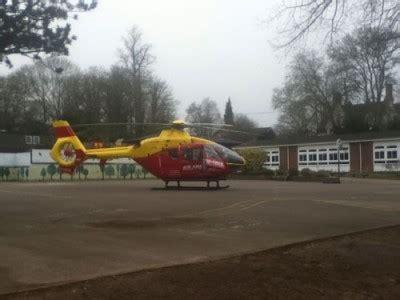 air ambulance lands trinity school saturday henley herald