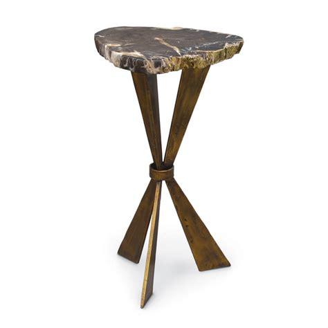 palecek petrified wood side table palecek palecek petrified wood tri leg side table view