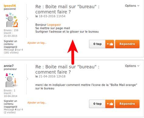 mettre une icone sur le bureau boite mail sur quot bureau quot comment faire communauté orange