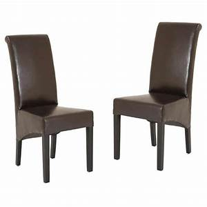 Chaise de salon marron lenan for Chaise fauteuil salon