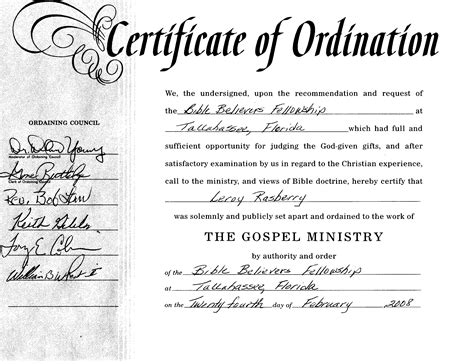 ordination certificate template best photos of ordination papers template bishop ordination certificate sle minister