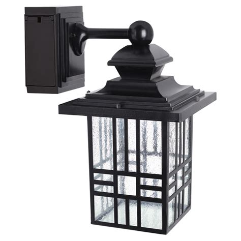 led wall lantern with gfci outlet rona